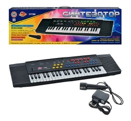 Пианино-синтезатор с микрофоном 'Electronic Keyboard' 3738